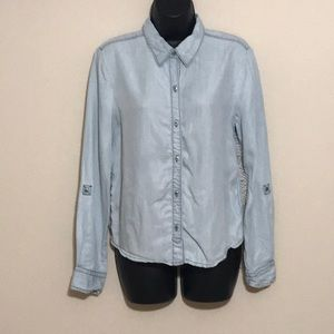 Holding Horses Denim and Lace Blouse Size S—B5